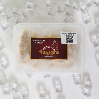 Century Egg Pork Dumplings 皮蛋肉碎水饺 (10pcs)