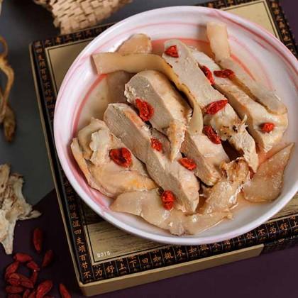 Chicken Tender Salted Herbal (steam) 玉竹枸杞当归蒸鸡柳 (咸)  200gm±
