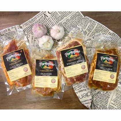 Pork Chop Spicy Garlic 香辣蒜蓉猪扒 (Marinated -2pcs) 200gm±